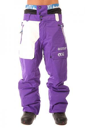 Штаны сноубордические  Colour Pant Purple Picture Organic. Цвет: белый,фиолетовый