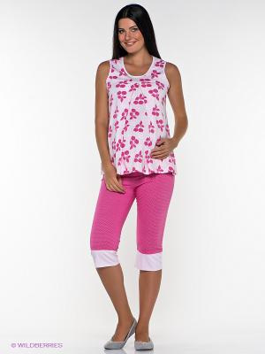 Пижама Nuova Vita. Цвет: белый, бледно-розовый, розовый