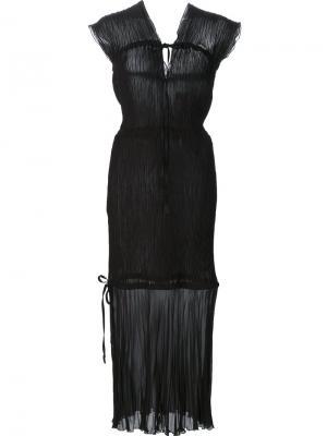 Платье с прозрачной панелью Barbara Casasola. Цвет: чёрный