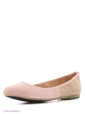 Балетки Dino Ricci. Цвет: розовый, бронзовый