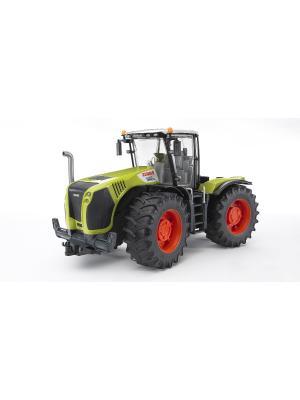 Трактор Claas Xerion 5000 с поворачивающейся кабиной Bruder. Цвет: салатовый, серый