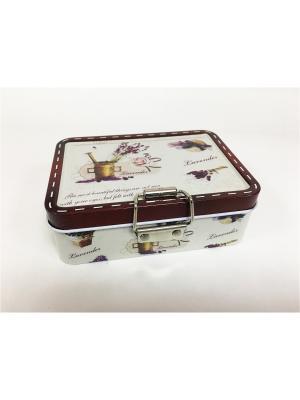 Коробка для безделушек и мелочей Лавандовый рай из черного окрашенного металла,  12,5х9х4см. Magic Home. Цвет: серый