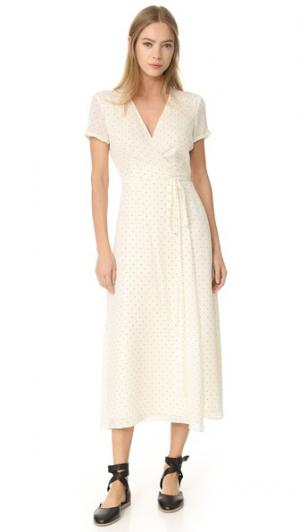 Платье-халат Jenni Kayne. Цвет: белый