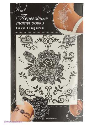 Татуировка переводная Роза, Fake Lingerie  (черный FL09). Цвет: черный