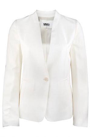 Пиджак mm6. Цвет: белый