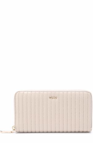 Бумажник из стеганой кожи на молнии DKNY. Цвет: серый