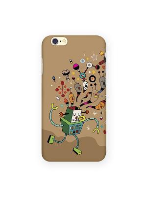 Чехол для IPhone 6 Мысли робота Mitya Veselkov. Цвет: бежевый, черный