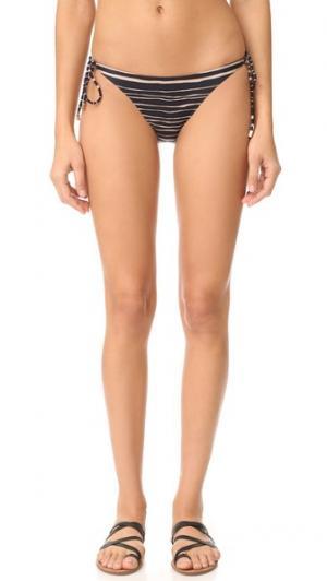 Плавки бикини на завязках Стандартный ViX Swimwear. Цвет: голубой