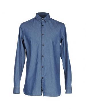 Джинсовая рубашка HŌSIO. Цвет: синий