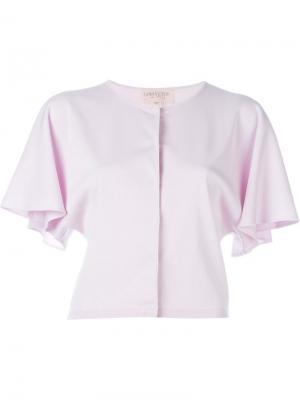 Топ с широкими короткими рукавами Giambattista Valli. Цвет: розовый и фиолетовый