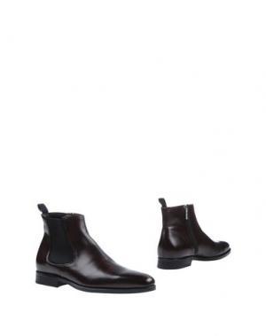 Полусапоги и высокие ботинки CANALI. Цвет: баклажанный