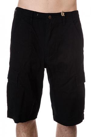 Шорты джинсовые  Regulation Cargo Black Independent. Цвет: черный