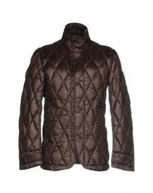Пуховик BPD BE PROUD OF THIS DRESS. Цвет: темно-коричневый