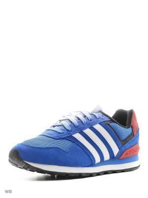 Кроссовки 10K Adidas. Цвет: синий, красный, белый