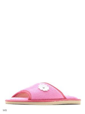 Тапочки DOMINO. Цвет: розовый