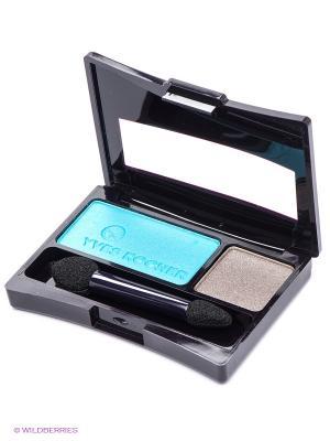 Пудровые тени-дуэт для век Насыщенный цвет Yves Rocher. Цвет: голубой, серый
