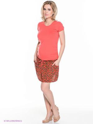 Платье EUROMAMA. Цвет: коралловый, хаки