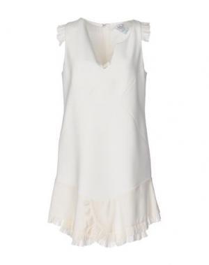 Короткое платье PINKO UNIQUENESS. Цвет: белый