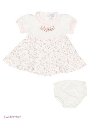 Комплект Cutie Bear. Цвет: белый, молочный, розовый
