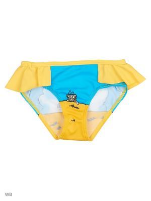 Плавки KICKERS. Цвет: голубой, желтый