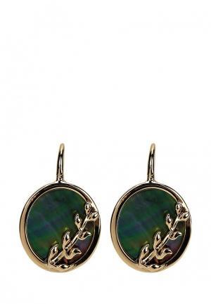 Серьги Fiore Luna. Цвет: зеленый