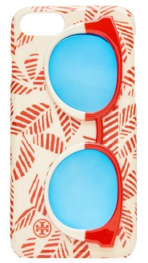Чехол для iPhone 7 с изображением зеркальных солнцезащитных очков Tory Burch