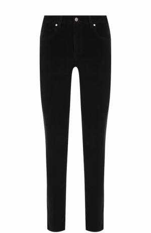 Вельветовые брюки прямого кроя Z Zegna. Цвет: черный