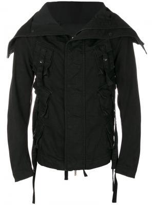 Приталенная куртка карго D.Gnak. Цвет: чёрный