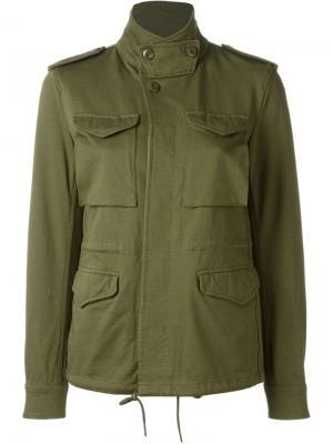 Куртка карго Nlst. Цвет: зелёный