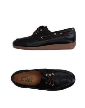 Обувь на шнурках SEBAGO DOCKSIDES. Цвет: черный