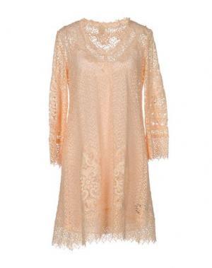 Короткое платье NOLITA. Цвет: абрикосовый