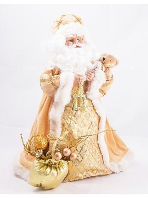 Игрушка новогодняя Санта Клаус Русские подарки. Цвет: золотистый