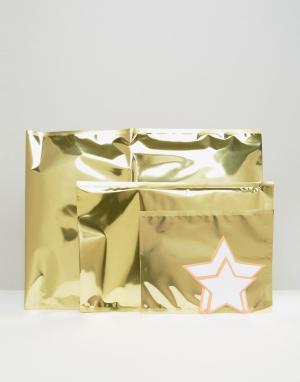 Meri Новогодние конверты из золотистой фольги. Цвет: мульти