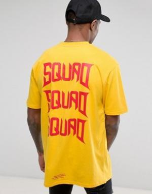 Vision Air Желтая футболка с принтом на груди Visionair. Цвет: желтый