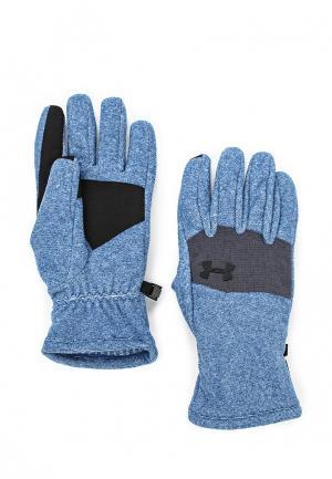 Перчатки Under Armour. Цвет: синий