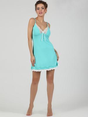 Ночная сорочка NicClub. Цвет: светло-зеленый