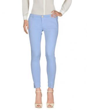 Повседневные брюки OAKS. Цвет: небесно-голубой