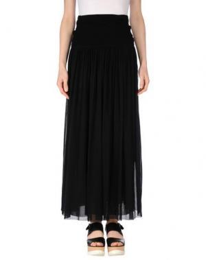 Длинная юбка FUZZI. Цвет: черный