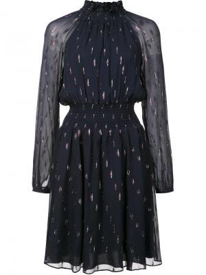 Embellished high neck dress Rebecca Taylor. Цвет: синий