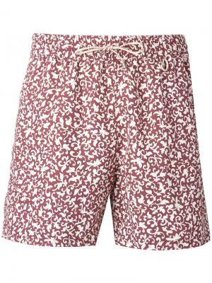 Пляжные шорты с принтом Loro Piana. Цвет: красный