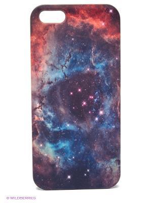 Чехол для IPhone 5 Космос Mitya Veselkov. Цвет: синий, красный