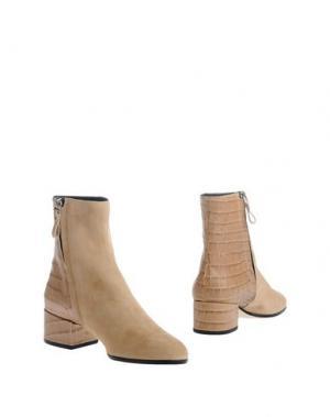 Полусапоги и высокие ботинки FRATELLI KARIDA. Цвет: песочный