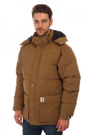 Куртка зимняя  Urban Heat Camel Fat Moose. Цвет: коричневый