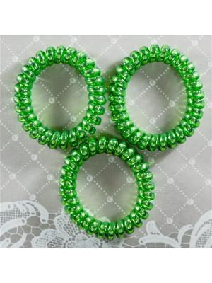 Резинка пружинка 3 шт Bizon. Цвет: зеленый