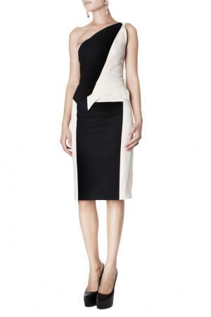 Асимметричное платье Roland Mouret. Цвет: белый