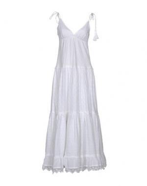 Длинное платье EMAMÒ. Цвет: белый