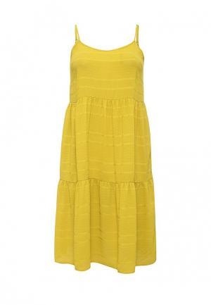 Платье LOST INK PLUS. Цвет: желтый