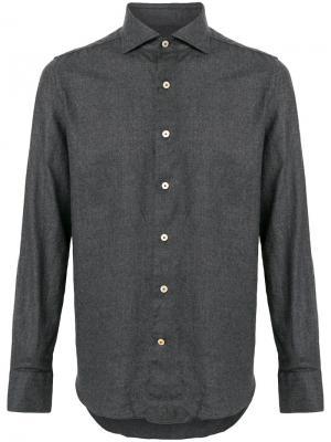 Рубашка с длинными рукавами Alessandro Gherardi. Цвет: серый