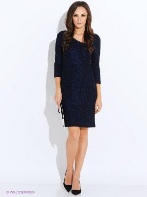 Платье Anna Scott. Цвет: темно-синий