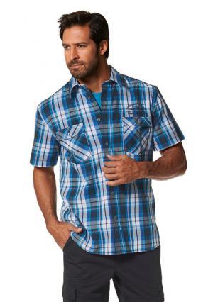 Рубашка MANS WORLD MAN'S. Цвет: синий/бирюзовый в клетку